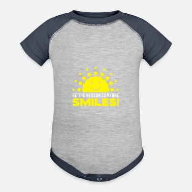 Script Be the reason someone smiles today Inspiring desig - Baseball Baby Bodysuit