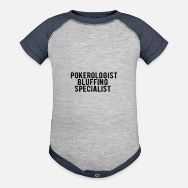 Machine POKER : Pokerologist - Baseball Baby Bodysuit