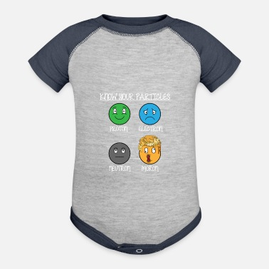 Alchemy know your particles subliminal political statement - Baseball Baby Bodysuit