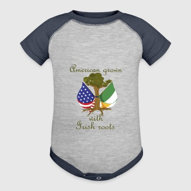 Irish Roots American Grown With Irish Roots - Baby Contrast One Piece