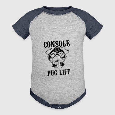 Console pug life - Baby Contrast One Piece