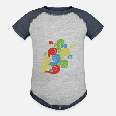 Bright Colors Bright Color Swirls - Contrast Baby Bodysuit