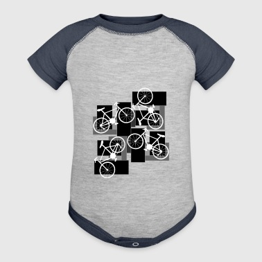 Bicycle Rectangles - Baby Contrast One Piece