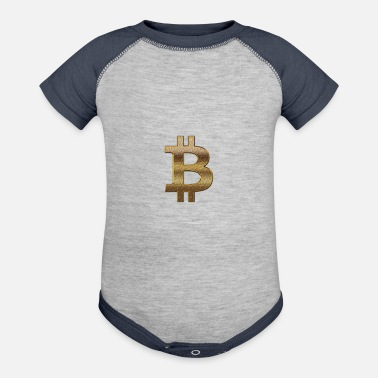 Dollar bitcoin logo (dollar sign) - Contrast Baby Bodysuit
