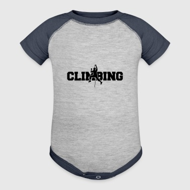 text climbing cling mountaineer climb mountains hi - Baby Contrast One Piece