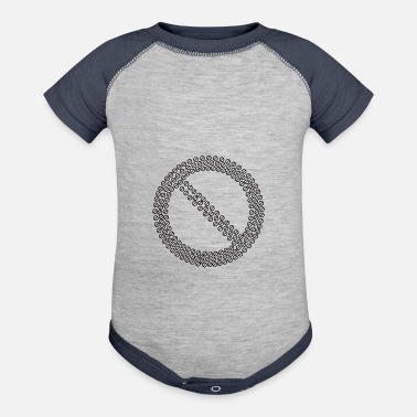 Prohibited Prohibited No Sign Fracta - Baseball Baby Bodysuit