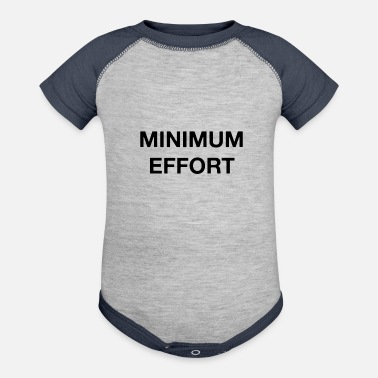 Minimum Minimum Effort - Baseball Baby Bodysuit