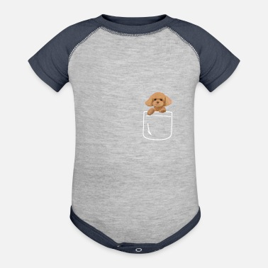 Poodle Toy Poodle Dog In Your Pocket Cute Puppy - Contrast Baby Bodysuit