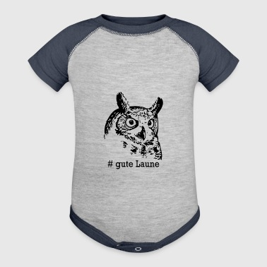 Owl with good mood in german - Baby Contrast One Piece