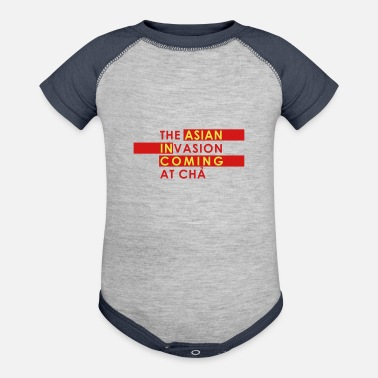 Asian Asian Invasion Asian in Coming - Baseball Baby Bodysuit