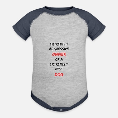 Aggressive Aggressive owner - Baseball Baby Bodysuit
