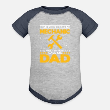 Mechanic Mechanic Dad Funny T Shirt For Fathers Day Gift - Baseball Baby Bodysuit