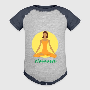 yoga namaste chanting - Baby Contrast One Piece