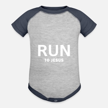 Christian Running to Jesus,Christian,Bible - Contrast Baby Bodysuit