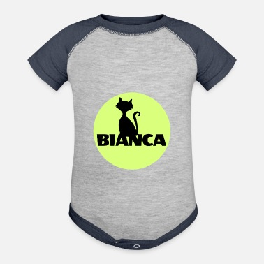 First Name Bianca name first name - Contrast Baby Bodysuit