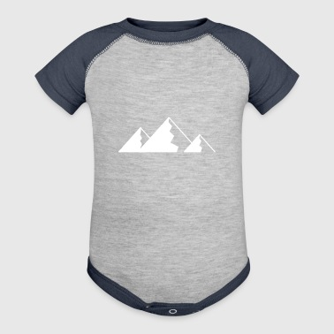 Mountain, Mountains - WHITE - Baby Contrast One Piece