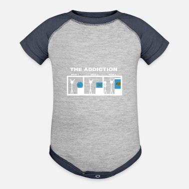 Aquarium The addiction of aquariums - Contrast Baby Bodysuit