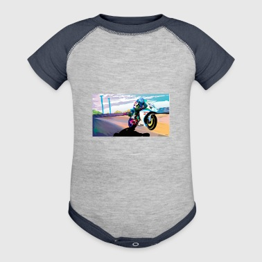 MOTORCYCLE IN MOTION - Baby Contrast One Piece