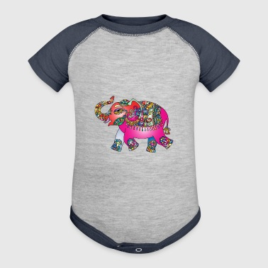 Collorfull Elephant - Baby Contrast One Piece