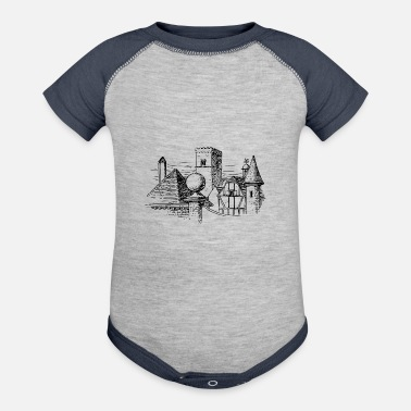 Architecture Elementary forms in architecture - Baseball Baby Bodysuit