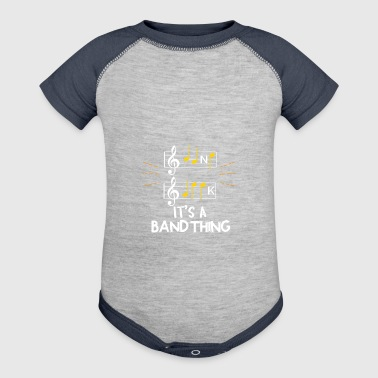 Band Geek - It's A Band Thing - Baby Contrast One Piece