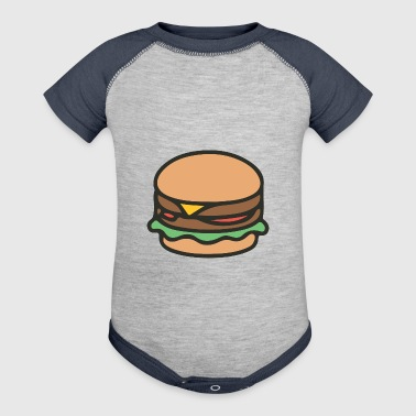 burger - Baby Contrast One Piece