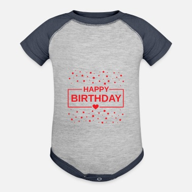 Happy Birthday HAPPY BIRTHDAY COUPLE - Contrast Baby Bodysuit