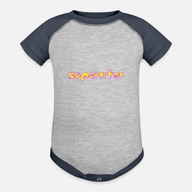 Superstar superstar! - Baseball Baby Bodysuit