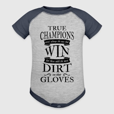 Soccer Goalie True Champions - Baby Contrast One Piece