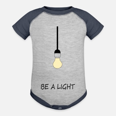 Light Be a Light - Contrast Baby Bodysuit