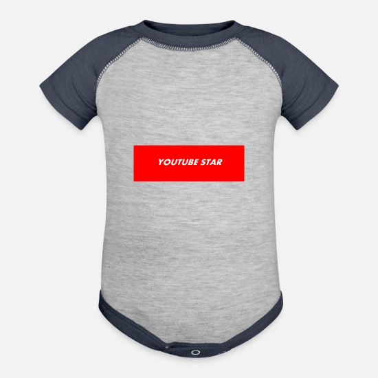 7ee1fff572 YOUTUBE STAR gift tshirt supreme Contrast Baby Bodysuit   Spreadshirt