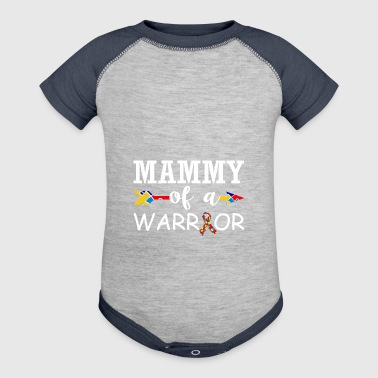Mammy Of A Warrior Autism Awareness - Baby Contrast One Piece