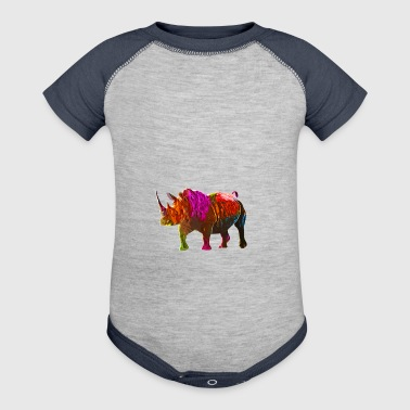 Colorful Rhinoceros - Baby Contrast One Piece