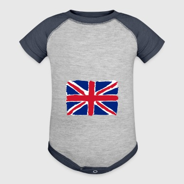 flag of uk - Baby Contrast One Piece