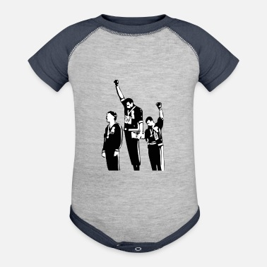 Black Power 1968 Olympics Black Power Salute - Contrast Baby Bodysuit