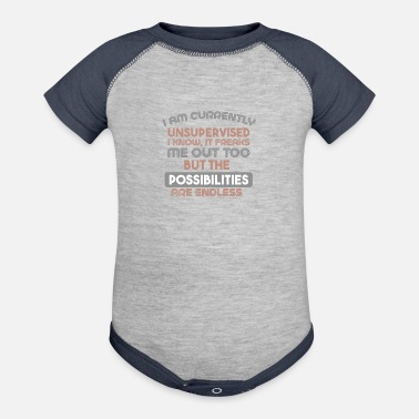 Current Events currently unsupervised - Baseball Baby Bodysuit
