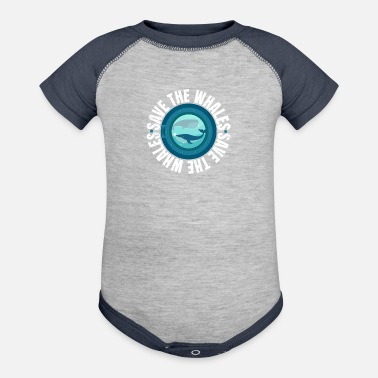 Save Save the Whales Protest March design - Baseball Baby Bodysuit