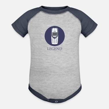 Mobile Phone mobile phone legend - Baseball Baby Bodysuit