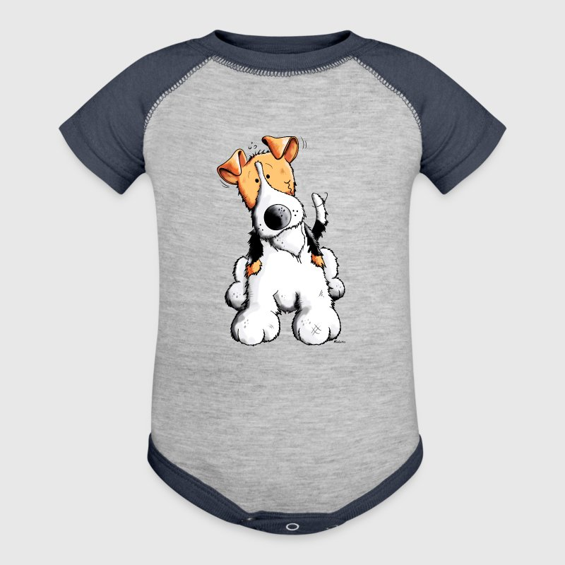 Funny Fox Terrier - Baby Contrast One Piece