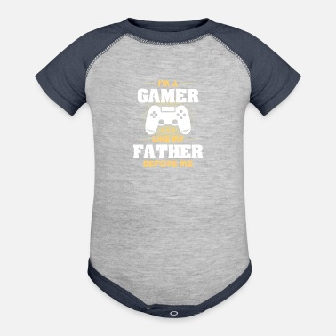 Gamer Gamer Like My Father Before Player Shirt & Gift - Contrast Baby Bodysuit