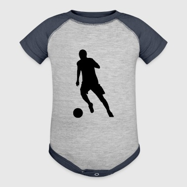 soccer kicker (silhouette) - Baby Contrast One Piece
