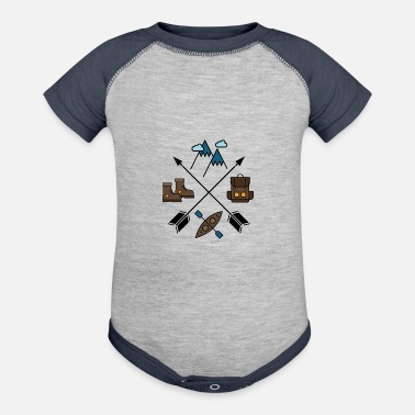 Wilderness Wilderness - Baseball Baby Bodysuit