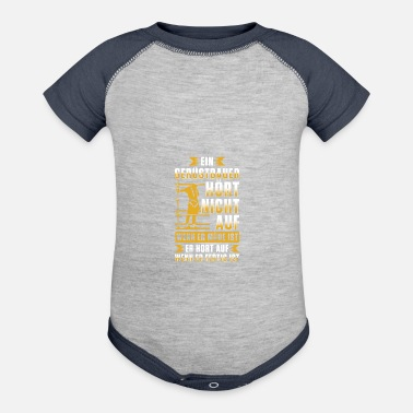 Painter Scaffolder Tshirt - does not stop when he is tired - Baseball Baby Bodysuit