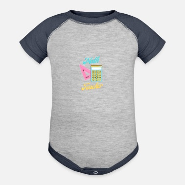 Funny Math Teacher Math Teacher - Baseball Baby Bodysuit