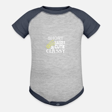 Cute And Classy Short Sassy Cute and Classy - Baseball Baby Bodysuit