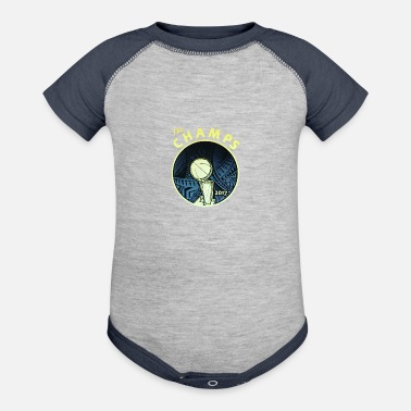 Warriors Warrior Golden State Warriors Curry James the champs - Baseball Baby Bodysuit