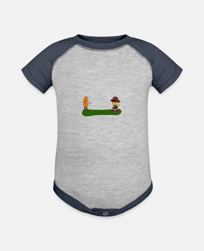 Grandpa Baby One Pieces - knife thrower - Baseball Baby Bodysuit heather gray/navy