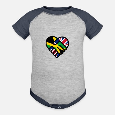 Jamaican British Friendship - Baseball Baby Bodysuit