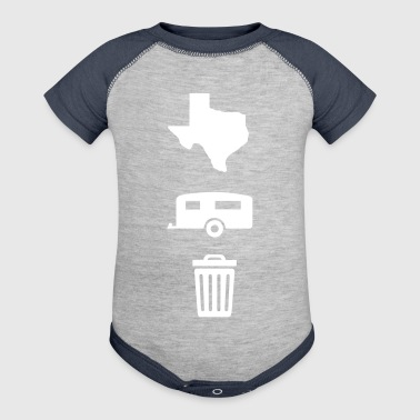 Texas Trailer Trash (Icons - Vertical/Light Color) - Baby Contrast One Piece