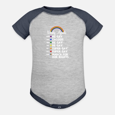 Uncle The Gay Agenda Gift - Contrast Baby Bodysuit